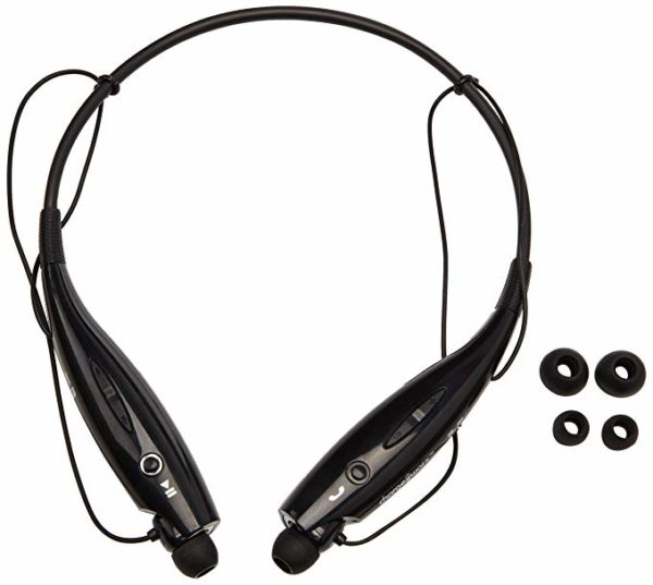 Chargeworx CX9014BK Wireless Bluetooth Earphone Headset Black