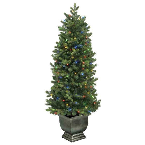GE 4.5' 150 Color Choice ConstantON Multi-Function Changing LEDs Artificial Tree