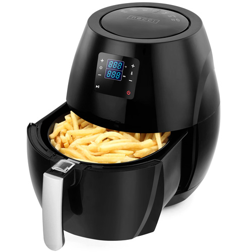 Necci - 6 Quart XL Family Size Digital Air Fryer