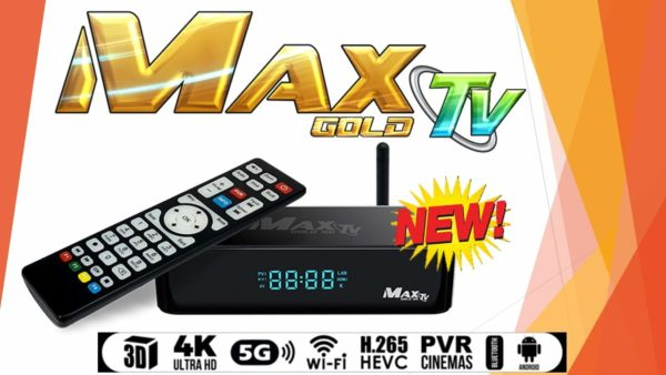 MAX TV GOLD 5G 4K ULTRA-HD IPTV BOX+ANDROID 7.1 QUAD-CORE 64 BIT