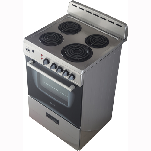 "Avanti - 24"" Stainless Steel Electric Coil Range With 2.65 CuFt"