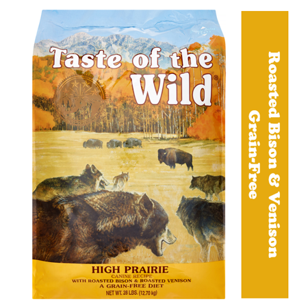 Taste of the Wild High Prairie Canine Recipe with Roasted Bison and Roasted Venison Grain-Free Dry Dog Food
