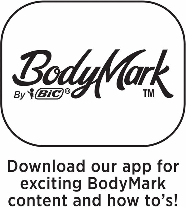 BIC BodyMark Temporary Tattoo Marker, Assorted Colors, 8-Count