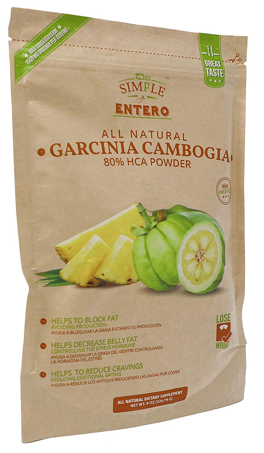 Garcinia Cambogia Powder Mix Natural Organic Multivitamin Powder