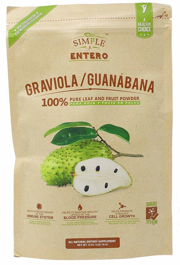 Graviola Guanabana Powder Mix 100% Pure Leaf 8oz Package