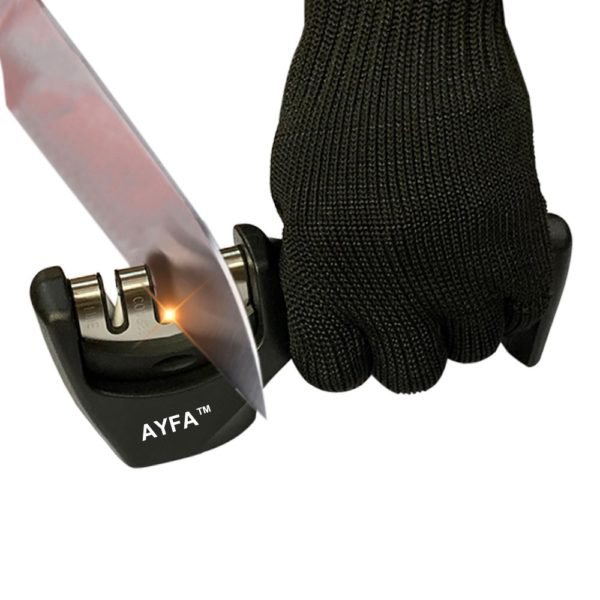 AYFA Knife Sharpener,Kitchen Knife Sharpener - 3-Stage Knife Sharpening Tool Helps Repair, Restore and Polish Blades
