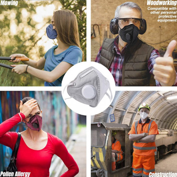 AYFA N95 Particulate Respirator Mask Dust Mask With Exhalation Valve For Construction Cleaning Air Coronavirus protection (COVID-19)