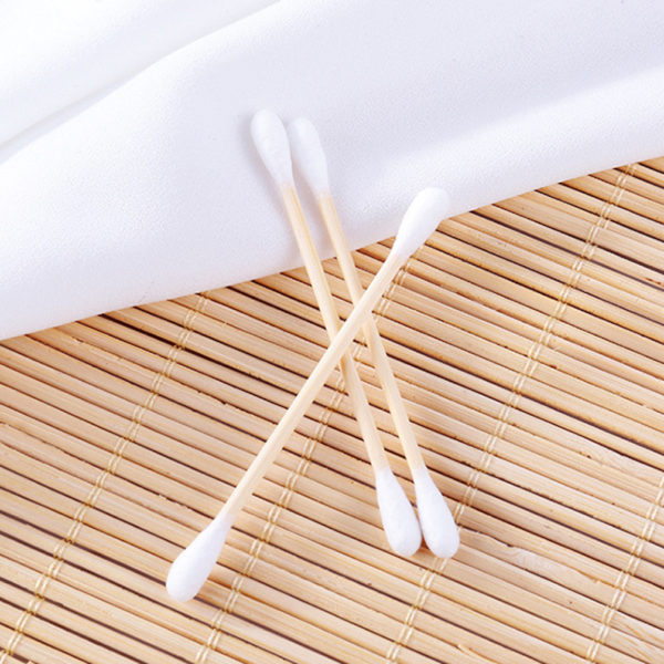 Cotton swabs buds makeup remover cleaning ear bamboo stick  (Pack 200ct, Pack of 12) Total 2400pcs by AYFA