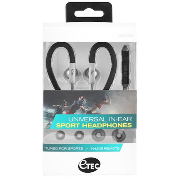 Etec - Universal in-Ear Sport Headphones (Black)