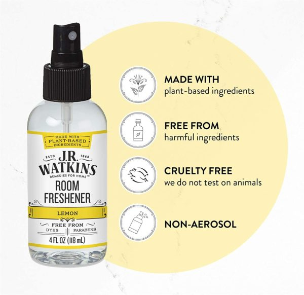 Room Air Freshener Spray Lemon Natural Freshener for Home Office or Car USA Made and Cruelty Free 4 fl oz (1pcs)